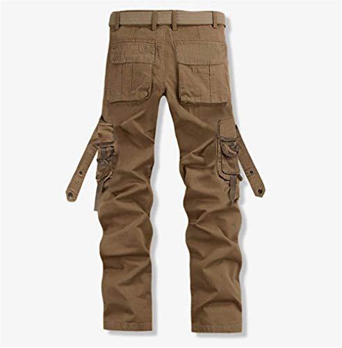 Khaki Multiuso Lavoro Estilo Sportivi Especial Pantaloni Uomo 88 Casual Da Cargo Retrò Bobo 7xqOzaTwX