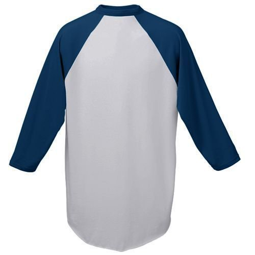 Baseball Sleeve Undershirt (Heather/Navy Adult 2XL Customized (Any Name and/or Number) Raglan 3/4 Colored Sleeve Baseball/Softball Shirt/Jersey (Youth & Adult))