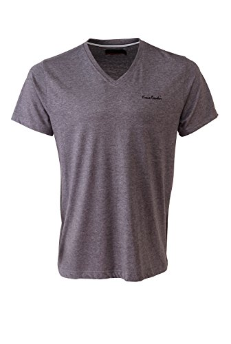 Pierre Cardin Mens New Season Essential Classic Fit V-Neck T-shirt (Small, Charcoal Marl) (Cardin Pierre Clothes)