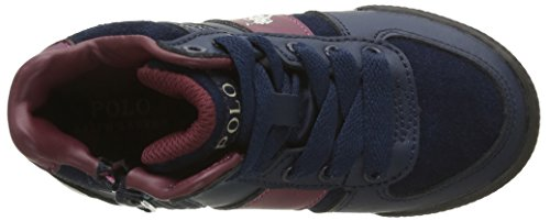 Ralph Lauren Speed 67 Mid Zip - Zapatillas Niños Azul - Blau (Navy Suede / BURGUNDY W Cream Pop)