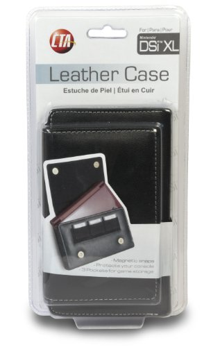 3DS XL / DSi XL Leather Case holds up 3x Game Cartridge