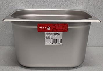 GN 1 2 Gastronomía Bandeja gastronorm 18/10 Acero inoxidable Fagor 11,6 litros cubeta 265 x 325 mm: Amazon.es: Hogar