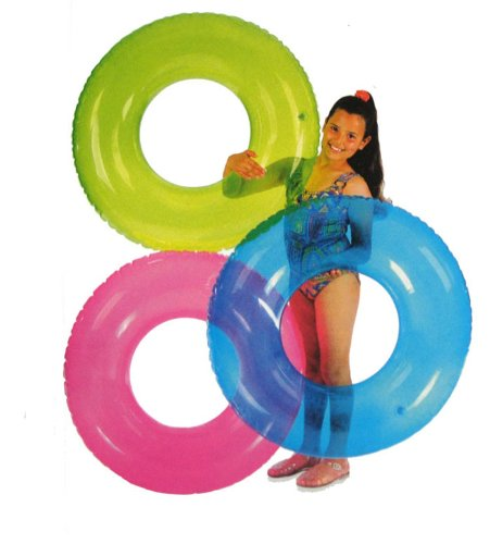 2 Pack - Intex Transparent Inflatable Tube Raft Assorted Colors  59260EP
