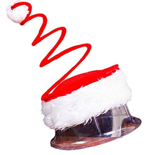 Springy Santa Christmas Hat,Victorcn Winter Warm Santa Hat Windproof Funny for Men & Women (A)