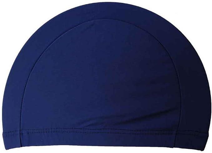 Elenxs - Gorro de natación de tela de poliéster, blue 3: Amazon.es: Deportes y aire libre