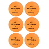 Artengo FB800 Table Tennis Balls Pack Of 6 - Orange