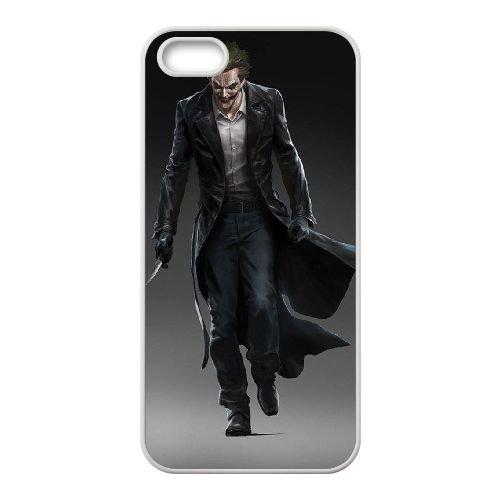 Batman Joker coque iPhone 4 4S Housse Blanc téléphone portable couverture de cas coque EBDOBCKCO09235