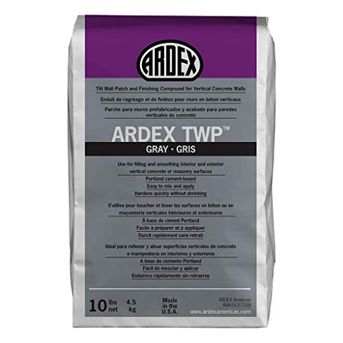 Ardex TWP, Tilt Wall Patch and Finishing Compound for Vertical Concrete Walls   , Gray