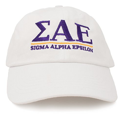 (Sigma Alpha Epsilon | Classic SAE Fraternity Line Baseball Rush Frat Hat Cap)