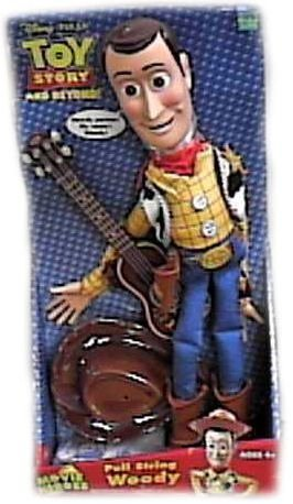 Disney Toy Story & Beyond Pull String Woody Doll Deluxe Figure with Cowboy Hat and Guitar
