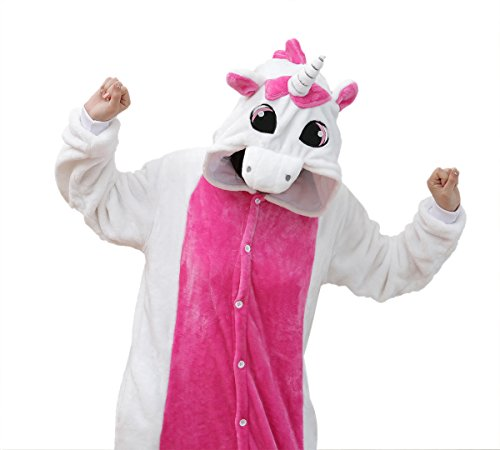 Unicorn for Fashion Costume with Comfortable Adults As Teens Men Pajamas Animal Onesie Purple iPerry Women Pockets Fun a Or 5fnXdvOqx5