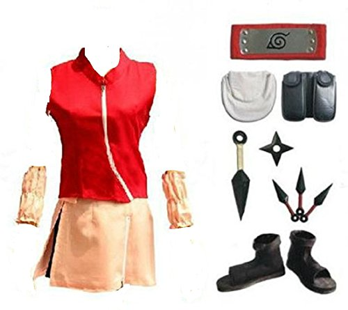 Narut (Sakura Haruno Cosplay Costume)