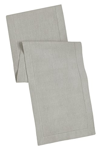 100% Linen Hemstitch Table Runner - Size 16x90 Charcoal - Hand Crafted and Hand Stitched Table Runner with Hemstitch detailing. The pure Linen fabric works well in both casual and formal settings (Formal Table Settings)