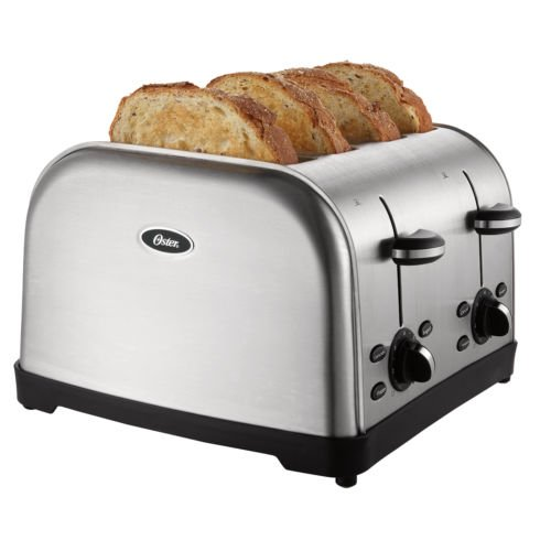Oster® 4-slice Toaster, Brushed Stainless Steel Tssttrwf4s-