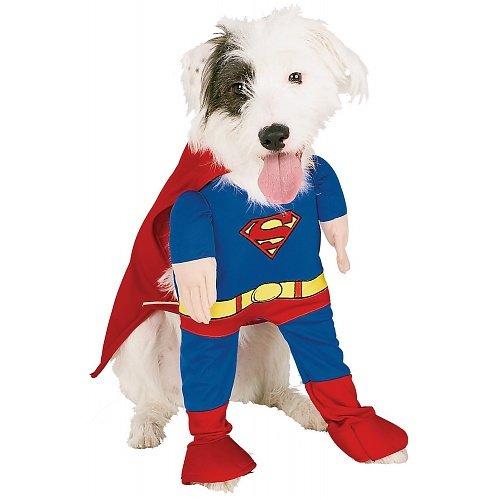 Superman Dog Costume (Rubies Costume Company DC Comics Superman Pet Costume, Extra-Small)