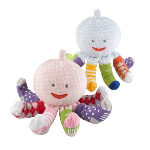 Baby Aspen Plush Octopus with 4 Pairs of Socks