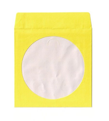 500 Yellow Color Paper CD Sleeves with Window & Flap mediaxpo Unknown