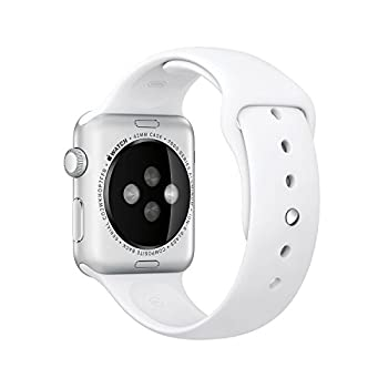 "Original Apple Watch 42mm (Fits 5.5"" - 8.2"" Wrists) - Silver Aluminum Case, White Sport Band Edition (Retail Packaging) 1"