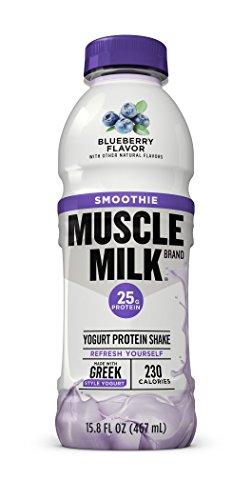 Muscle Milk Smoothie Protein Yogurt Shake, Blueberry, 25g Protein, 15.8 FL OZ, 12 count by Muscle Milk