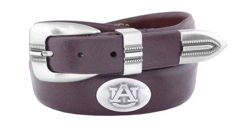 NCAA Auburn Tigers Brown Tip Leather Concho Belt, 38
