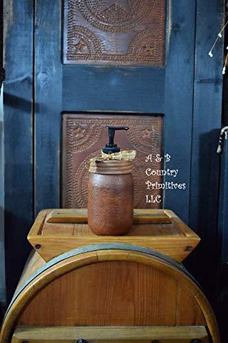 Grubby Cinnamon Soap and Lotion Dispenser, Mason Jar Soap Dispenser, Country Farmhouse ()
