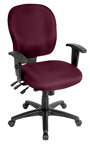 Eurotech Seating Racer FM4087-BURG Midback Swivel Chair, Burgundy