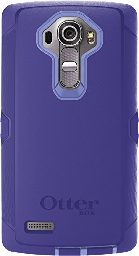 OtterBox Defender Case for LG G4 - Retail Packaging - Periwinkle Purple/Liberty Purple (Best Phone Case For Lg G3)