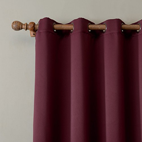 cololeaf Porch Curtains Outdoor Waterproof Patio Garden Outdoor Curtain/Exterior Shades/Blinds- Grommet Thremal Insulated Blackout Curtain Mildew Resistant - Burgundy 84'' Wx96 L Inch (1 panel)