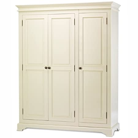 Chateau french triple wardrobe large 3 door ivory painted ...
