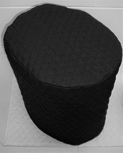 Quilted Food Processor Cover (Black, Large)