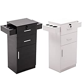 BarberPub Locking Beauty Salon Storage Station Cabinet Hair Dryer Holder Stylist Equipment Drawer 2021