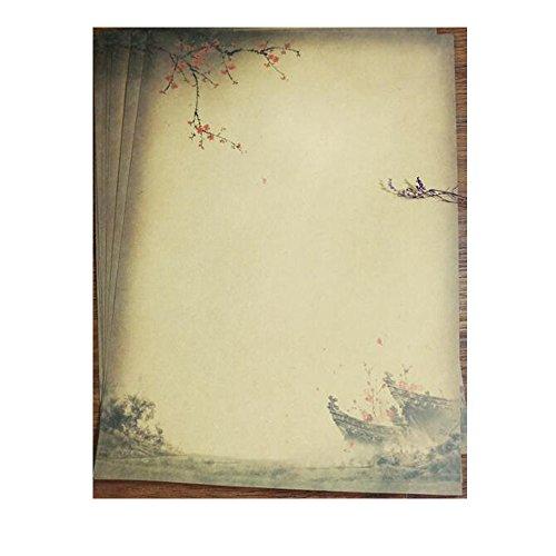QingLanJian Vintage Kraft Paper Writing Paper with Envelopes Stationary Sets-32 Sheets and 16 Envelopes by QingLanJian (Image #3)