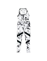 MonkeyJack Lady Sportswear Set Vest Pants Gym Sports Yoga Set Gym Outfit Pants Tight Fitness Active Wear Set Gym Outfit
