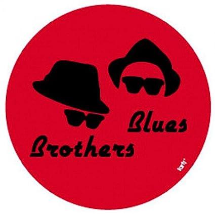 1art1 Blues Brothers - Cappelli E Occhiali Da Sole Sticker Adesivo (9 x 9cm) GSuXC