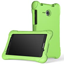 MoKo Samsung Galaxy Tab A 7.0 Case - Kids Friendly Ultra Light Weight Shock Proof Super Protective Cover Case for Samsung Galaxy Tab A 7.0 Inch Tablet SM-T280 / SM-T285 2016 Release, GREEN