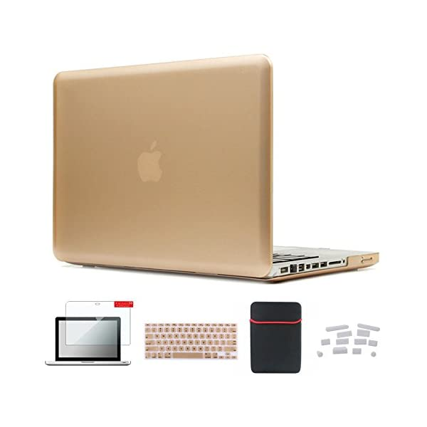 Se7enline MacBook Air Case Soft-Touch Plastic Hard Case with Silicone Keyboard Protector, Screen Protector, Dust Plug and Sleeve for MacBook Air 5 in 1 Bundle