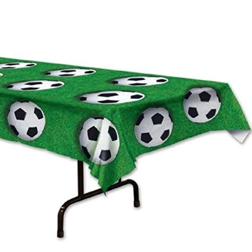 hersrfv home Soccer Ball Plastic Tablecloth Banquet Table Cover Birthday Party Decorations