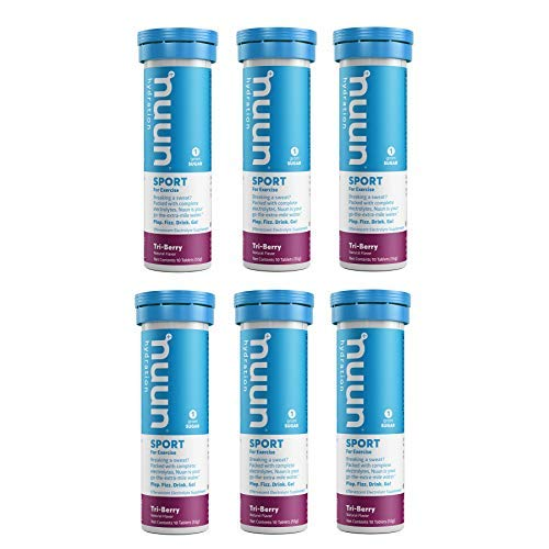 Nuun Active: Tri-Berry Electrolyte Enhanced Drink Tablets (6-Pack of 10 Tablets)