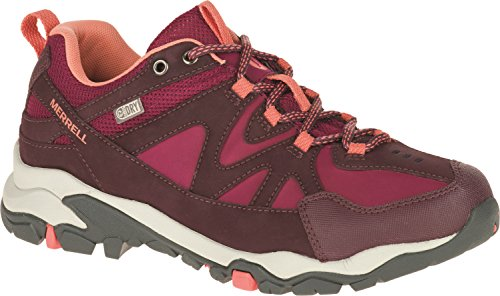Merrell Tahr Bolt, Zapatos de Low Rise Senderismo, Mujer Multicolor (Huckleberry/Coral)