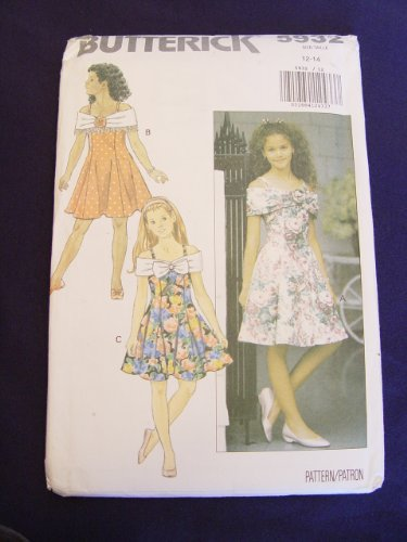 Uncut Vintage Butterick Pattern Dress - 1