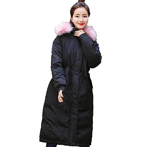 Sólido Mujeres Invierno Outwear Negro Lammy Las Señoras De Vestir Chaqueta Collar Pelo Casual Escudo Grueso Prendas Exteriores Cálido Delgado gqvHxww