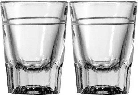 (2 oz Heavy Shot Glass with Line (Pack of 2) )