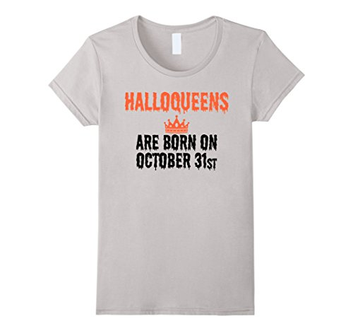 Womens Halloween Birthday Shirt Halloqueens Are Born October 31st Medium (31 October Halloween)