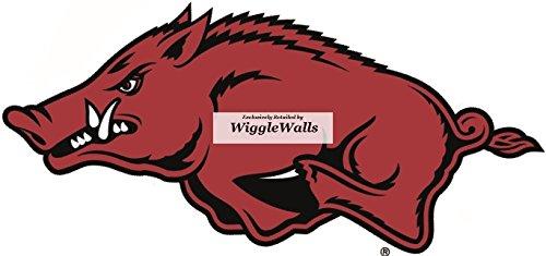 9 Inch Big Red Tusk Razorbacks University of Arkansas Uark Hogs AR Hog Logo Removable Wall Decal Sticker Art NCAA Home Room Decor 9 by 4 Inches