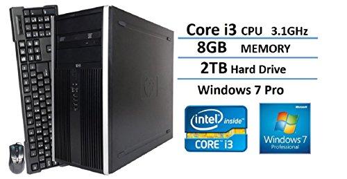 2016 New HP Elite 6200 Pro-Tower Business Desktop Computer, Intel Dual-Core i3 3.1GHz, 8GB DDR3 RAM, 2TB HDD, (Desktop Computer Windows 8 Hp)