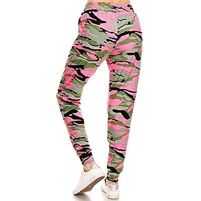 Leggings Depot Premium Women's Joggers Popular Print High Waist Track Pants(S-XL) BAT2 at Women's Clothing store