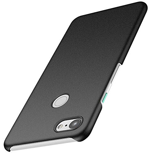 ORNARTO Pixel 3 XL Case for Google Pixel 3 XL,Thin Fit Shell Premium Hard Plastic Matte Finish Non Slip Full Protective Anti-Scratch Cover Cases for Google Pixel 3 XL(2018) 6.71 Frosted Black