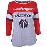 NBA Womens T-Shirt Ragan Baseball 3/4 Long Sleeve Tee Shirt, Team Logo Color