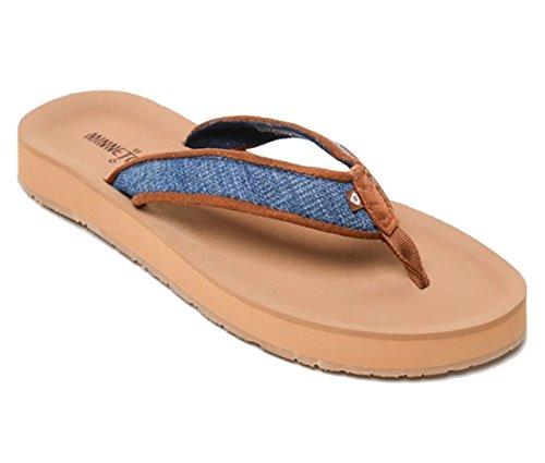 Minnetonka Women's Hedy Flip Flip Sandal, Blue Denim, M 10 ()