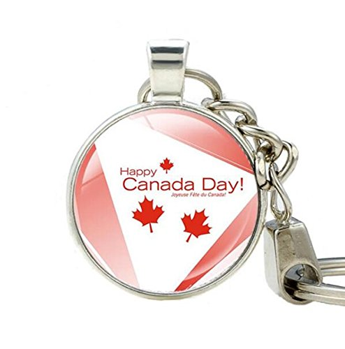 Halloween Accessories Toronto (Canada Flag Keychain, Toronto Ottawa Canada Keychain, Flag Keychain, Canada Maple Leaf Flag Key Ring, Canada Patriotic Jewelry gift)